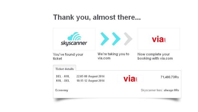 Skyscanner Booking